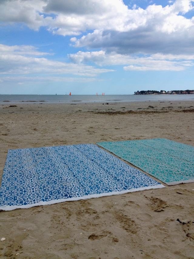 Beach time with my Texturas Urbanas towels